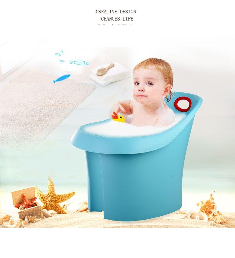 Baby bath bucket super thick plastic shower bath bucket The baby ...
