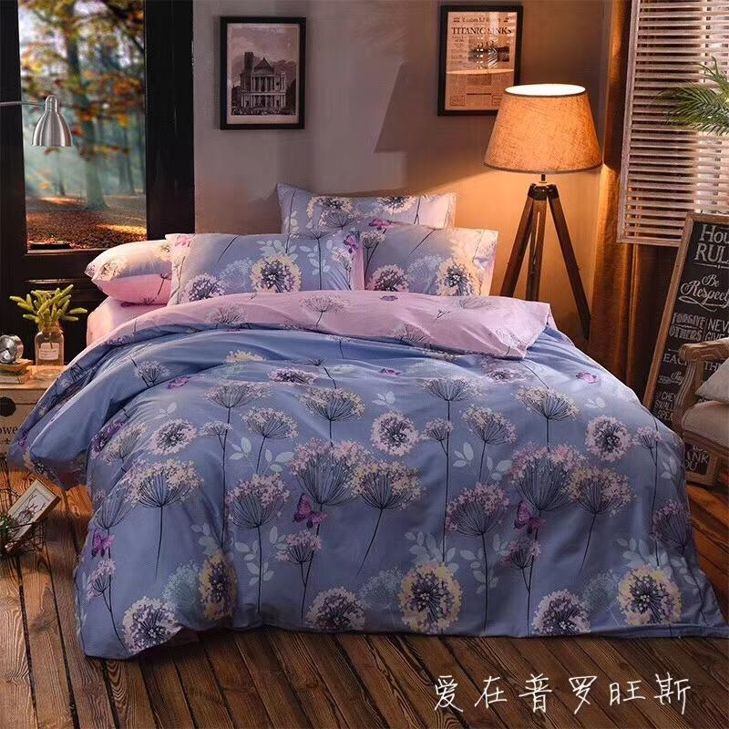 40*40/133*72 100% cotton fabric flat sheet bedding set four pieces per set home textile products queen and king size,flower designs