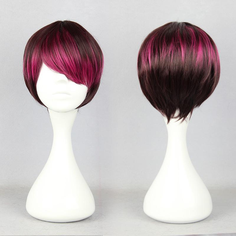 MCOSER Trasporto libero nuovo colore misto 26cm breve alta qualità sintetica anime cosplay parrucca lolita