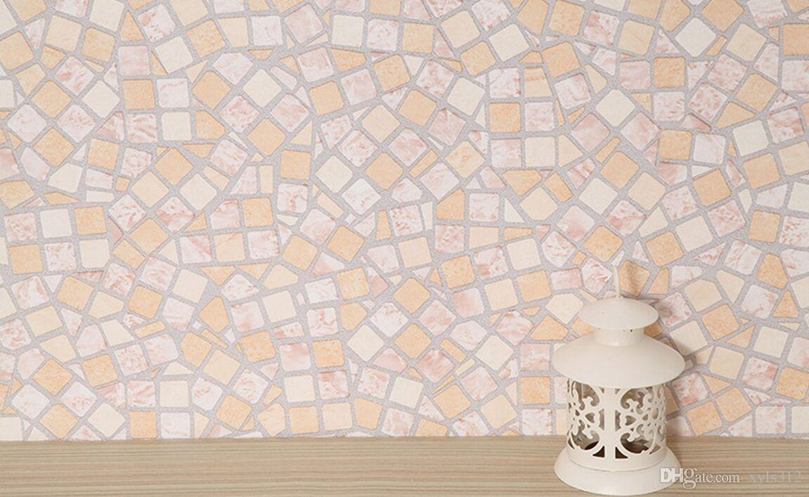 W45cm self-adhesive mosaic wallpaper anti-oil paste kitchen high temperature anti-oil easy to scrub toilet tiles stickers waterp