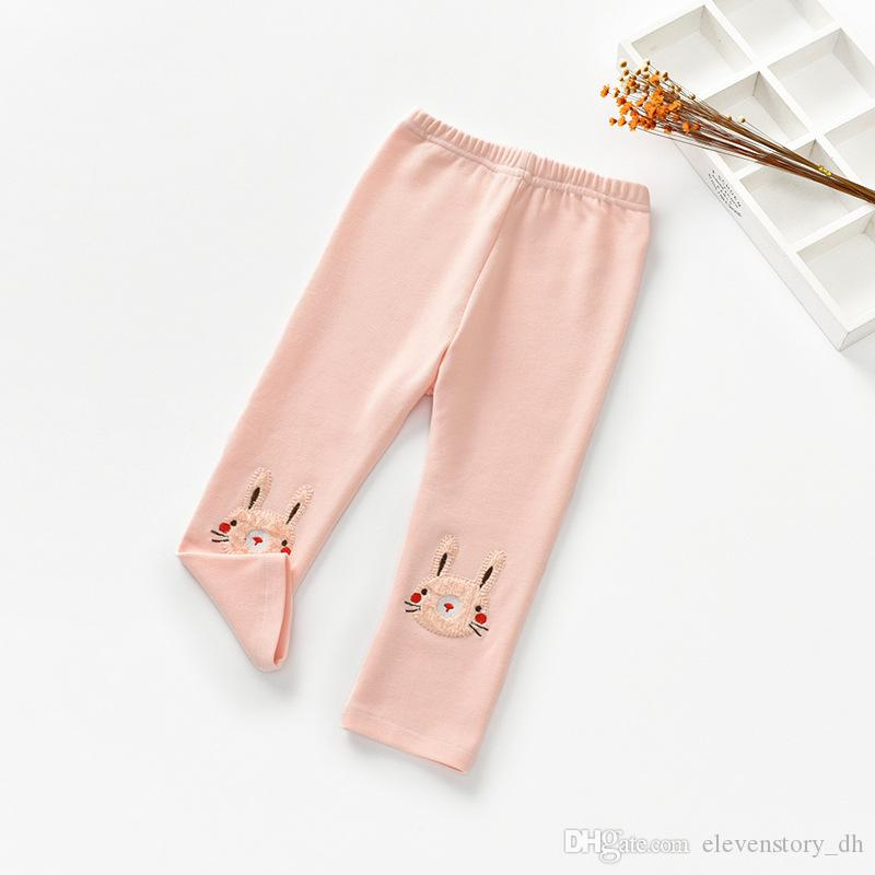2 to 6 years Baby Girl fall/spring rabbit cotton leggings, kids & teenager boutique autumn clothing, R1AA406PT-93