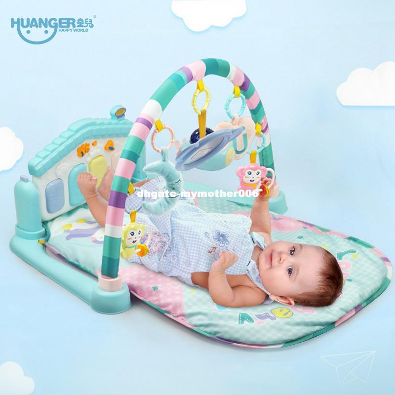 dhgate Baby Multifunction Play Rug Develop Crawling Children's Piano Music Mat Infant Fitness Carpet Educational Rack Toys pads