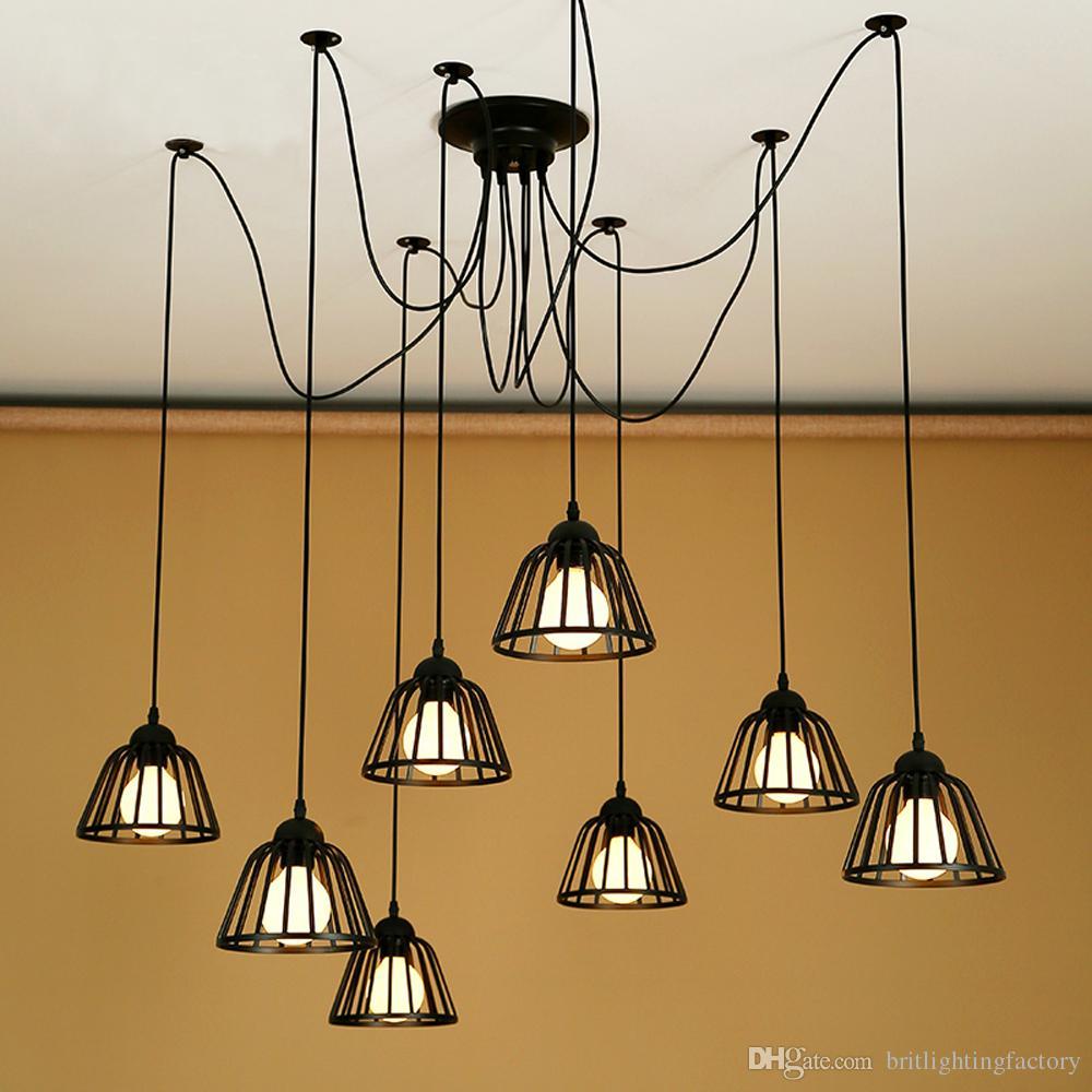 Moderna catena di negozi in ferro battuto lampada a sospensione soggiorno ufficio luce ciondolo creativo ristorante caffetteria bar kinchen studio lampada a sospensione