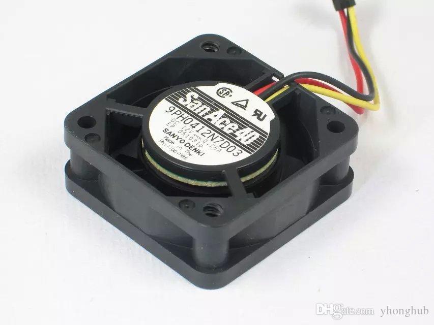 Frete Grátis Para SANYO 9PH0412N7D03 DC 12 V 0.26A 3-wire conector de 3 pinos 65mm 40X40X15mm Servidor de Refrigeração Quadrado fã