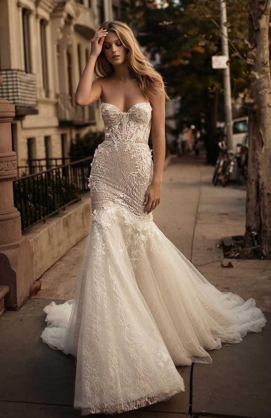 2017 Berta Bridal Corset Wedding Dresses Sweetheart Neckline Bustier ...