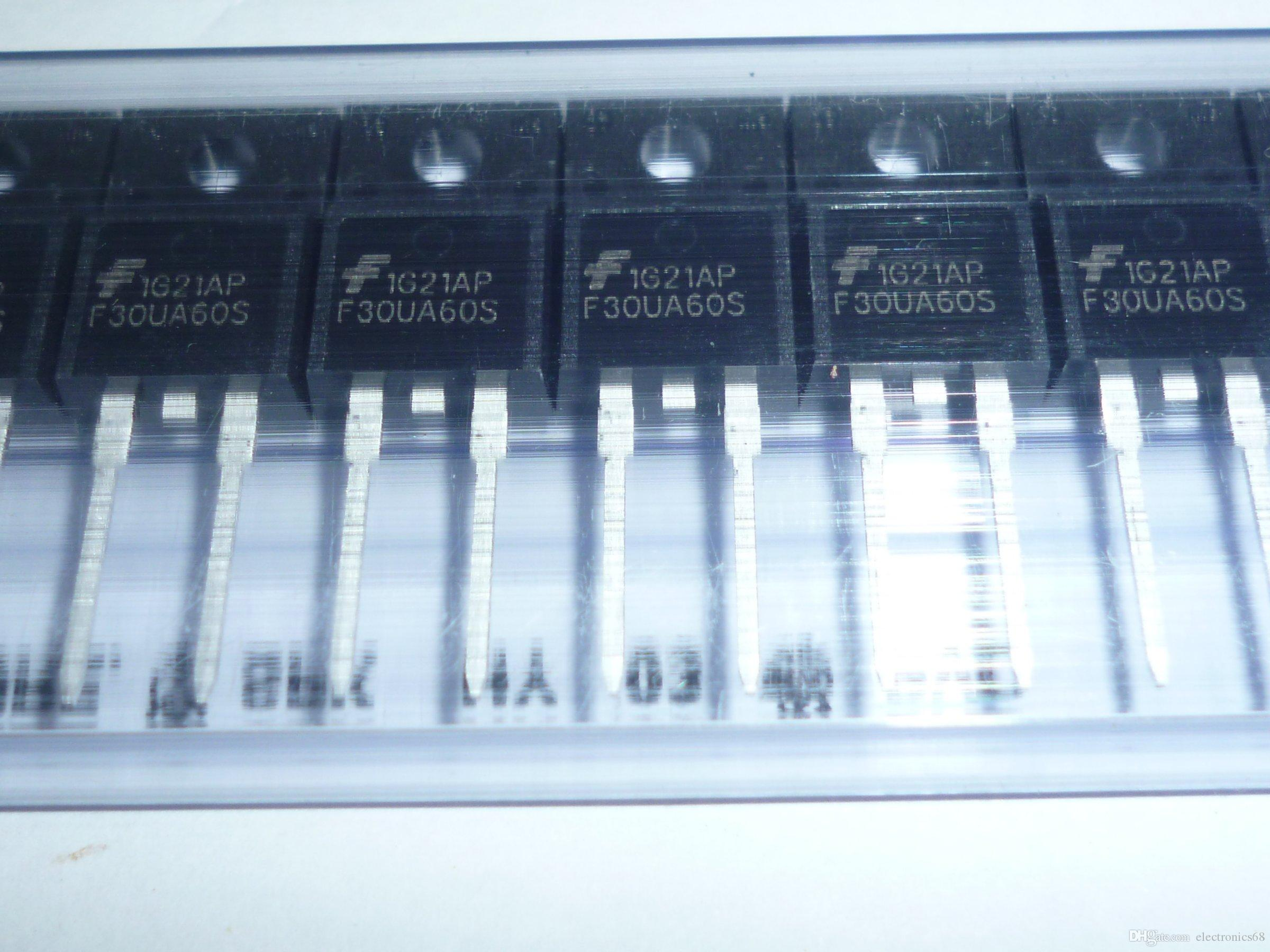 FFPF30UA60S F30UA60S DIODE GEN PURP 600V 30A TO220-2 Dioden Gleichrichter Single