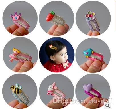 Baby safety pin Baby hair BB clip hair bald children tire of cute clips