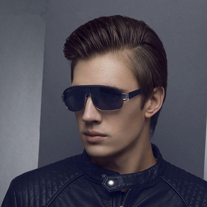 Marca de calidad superior Lentes polarizadas Gafas de sol para hombre Gafas de sol Big Frame Black Sport Gafas de sol Gafas de sol con caja original
