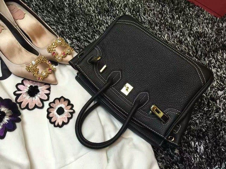 2016 Luxury H Handbag Women\`s Litchi Cowhide Messenger Bag Genuine Leather Famous Designer Shoulder Crossbody Totes Ladies Bolsa (43)
