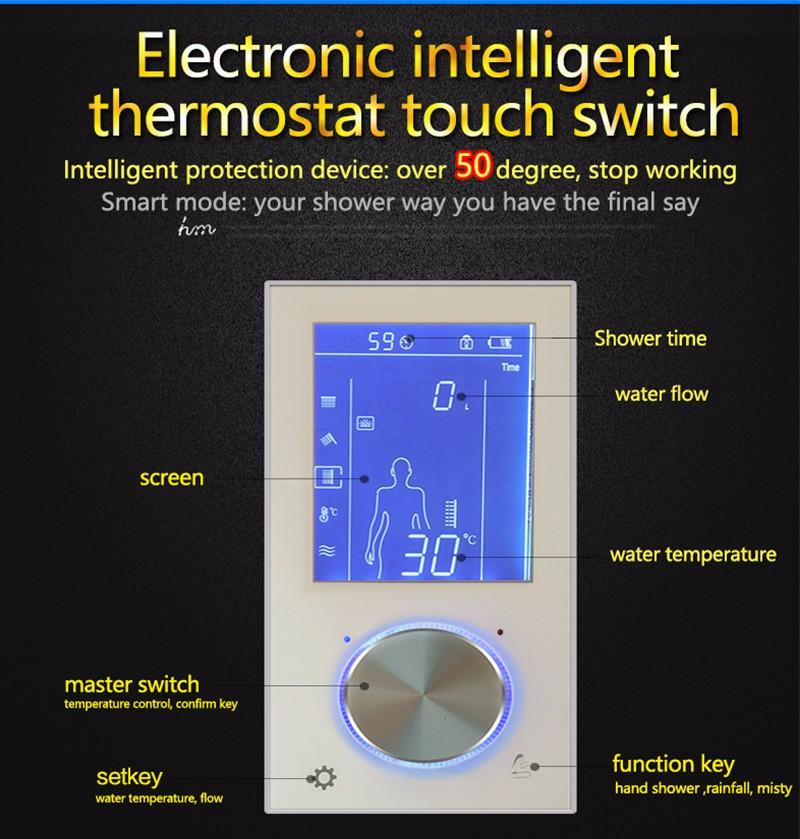 hm Digital Shower Controller,LED Touch 3 Way Thermostat Shower Controller,Display Control System,LCD Smart Temperature Mixer (5)