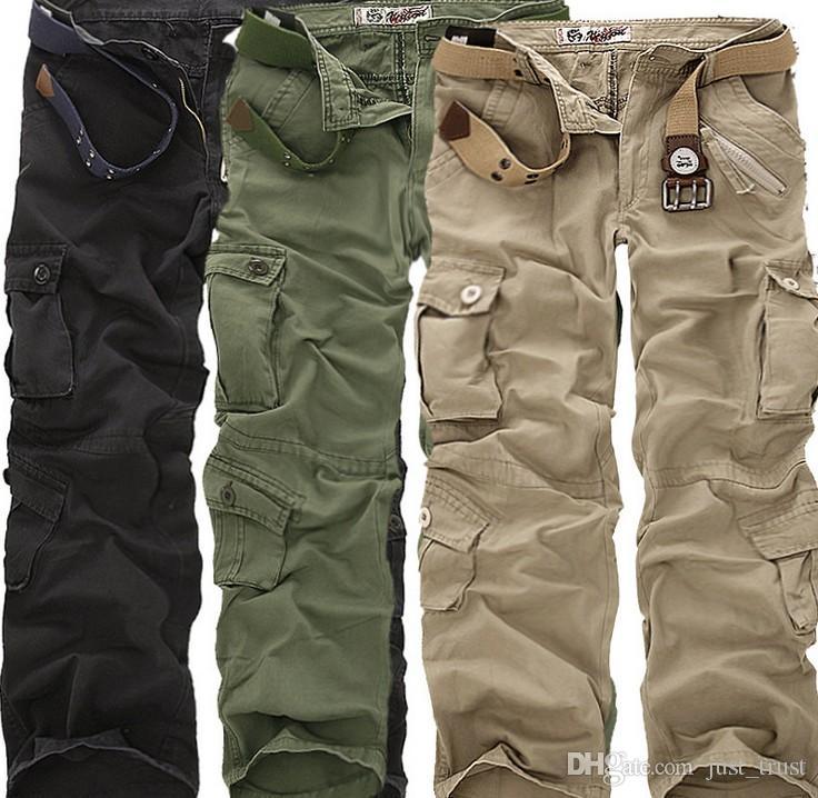 Pantalon Cargo Homme Poches multiples combat pantalon d/'armée