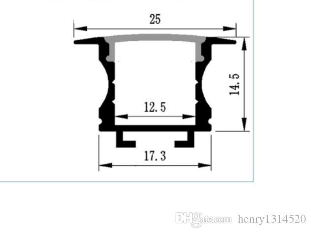 40 pçs / lote 80 polegadas / 6.6 pés, 2 m cada barra de luz led carcaça, perfil de alu led com bom dissipador de calor, canal de led para 12mm PCB tira habitação