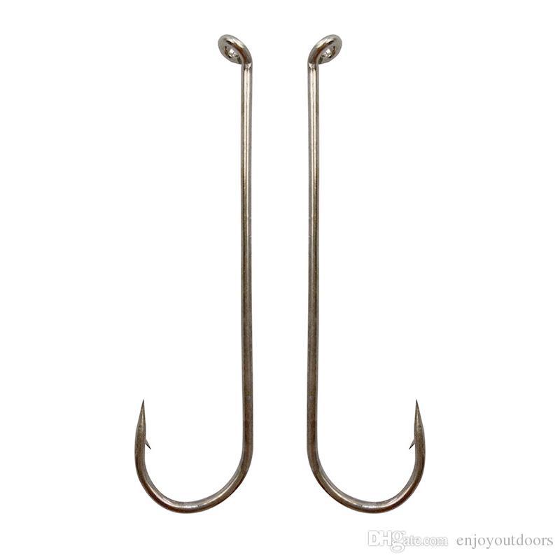 100pcs 79580 High Carbon Steel Fishing Hooks White Long Shank Streamer Dry Fly Tying Fishing Hook For Jig Size 2 4