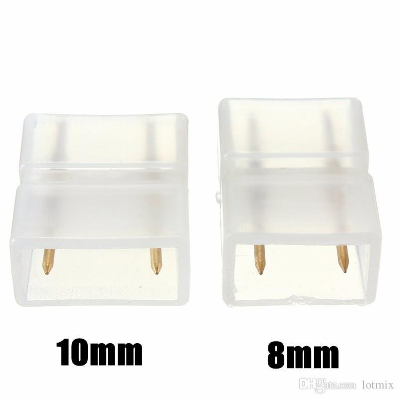 최고의 가격 8mm / 10mm 2 핀 용접없는 커넥터 연결 5050/3014/2835/5730 LED 크리스마스 스트립 빛에 대 한 납땜
