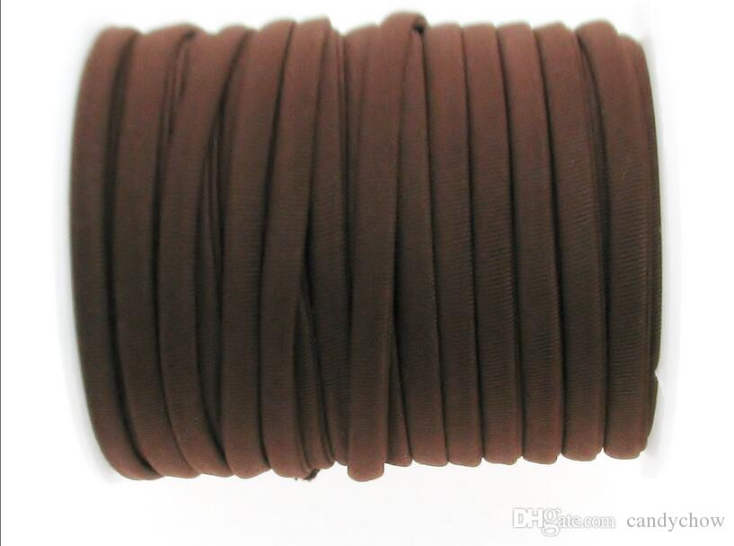 Café 20 m 1roll 5 mm élastique en nylon Lycra cordon, doux et épais cordon, Lycra cordes en nylon, Adapté pour faire des bracelets, cordon élastique