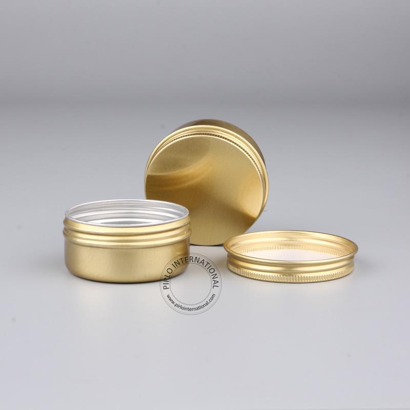Outils de maquillage DIY 50g beau pot en aluminium doré, récipients pour cosmétiques vides en métal, boîtier en aluminium / pot / boîte 10pcs / lot