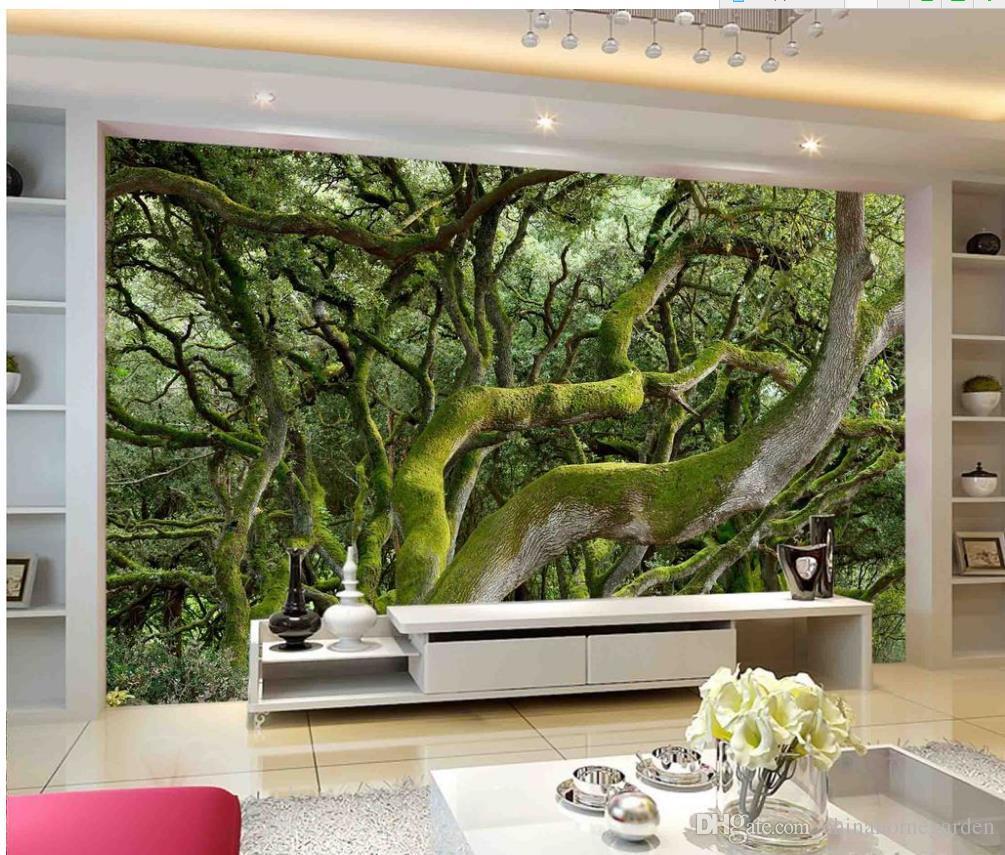 super clear green moss tree trunk tv wall mural 3d wallpaper 3d super clear green moss tree trunk tv wall mural 3d wallpaper 3d wall papers for tv