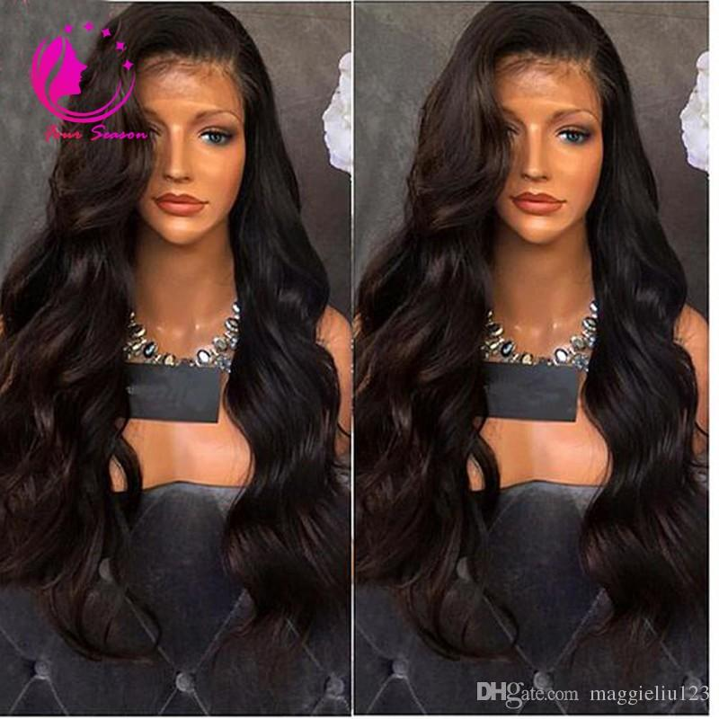 Virgin Malaysian Human Hair Silk Top Lace Front Wig Body Wave Full Lace Human Hair Wig With Baby Hair Glueless Lace Wig For Women