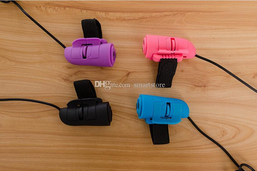 300pcs 미니 USB 유선 3D 옵티컬 핸드 헬드 손가락 반지 마우스 마우스 노트북 PC 수첩 0001