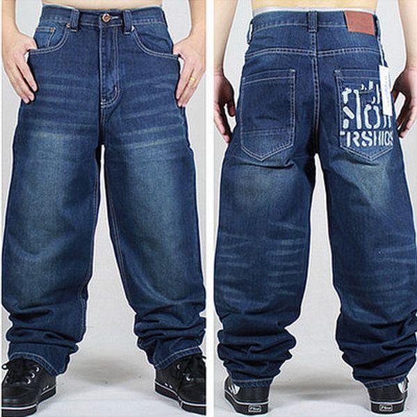 Wholesale Graffiti Letters Men Baggy Jeans Mens Hip Hop Jeans Long Loose Fashion Skateboard Baggy Relaxed Fit Jeans Men Street Dance Pants NZ 2019