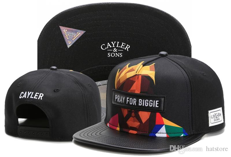 gorący produkt wspaniały wygląd profesjonalna sprzedaż 2017 PRAY FOR BIGGIE Cayler & Sons Black Snapbacks Men Women Basketball  Caps Team Football Hip Hop Adjustable Snapback Baseball Cap TYMY 617 Cool  Hats ...