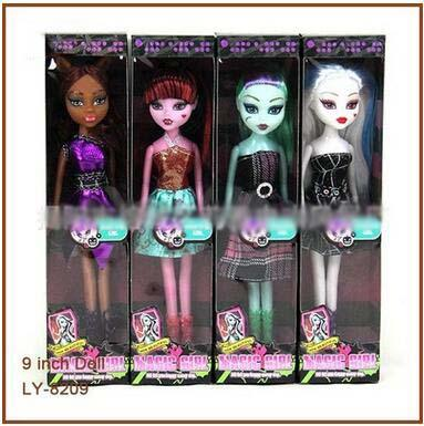 Ins Hot Monster High Dolls 9 Inch Elf Monster High School Girls Dolls Kids Dolls Toys Novelty Birthday Gift Ship By Dhl Doll Clothes For 18 Inch Doll Plush Dolls From Dqtoys