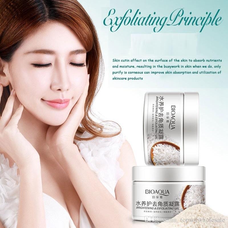 BIOAQUA Skin Peeling Gel Cream Feuchtigkeitsspendende Feuchtigkeitscreme Schrumpfen Poren Aufhellen Gesicht Körper Hautpflege DHL