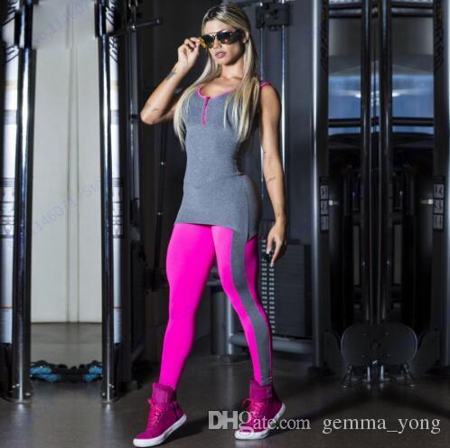 Rose Red Comprehension Yoga Tute Sexy Push Up Fitness Gym Leggings Collant Oversize Elastico Vita alta Sport Tuta Donna