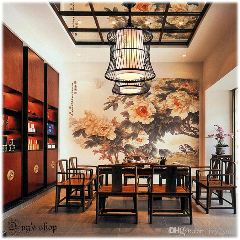 2017 hot sale chinese birdcage lamp modern minimalist dining room chandelier living antique decorative