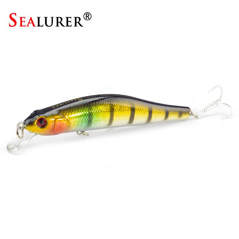 Fishing lures Sinking Minnow High Quality Tackle 100mm 11.7g Wobblers Crankbait with 6# Hooks 3D Eyes