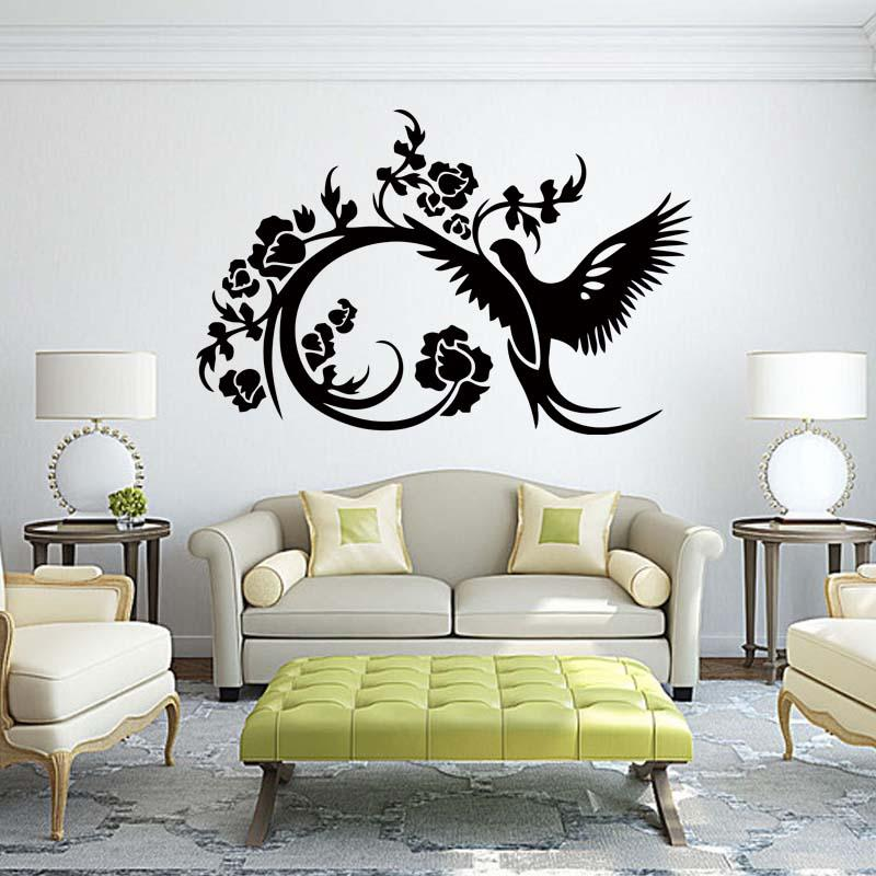 Bird Flower Love Sky Decor Bedroom Sitting Room Quote Wall Stickers Vinyl Decal Art Removable Decals DIY