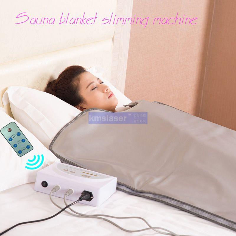 Novo modelo 2 Zona FIR Sauna FAR INFRAVERMELHOS CORPO SAUNA COBERTOR de SAÚDE terapia de aquecimento Saco Fino SPA perda de peso corpo máquina de desintoxicação