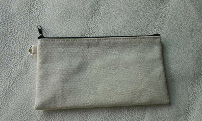 10pcs/lot 19.5*11cm Black cotton canvas cosmetic bags DIY women blank plain zipper makeup bag phone clutch bag Gift organizer cases
