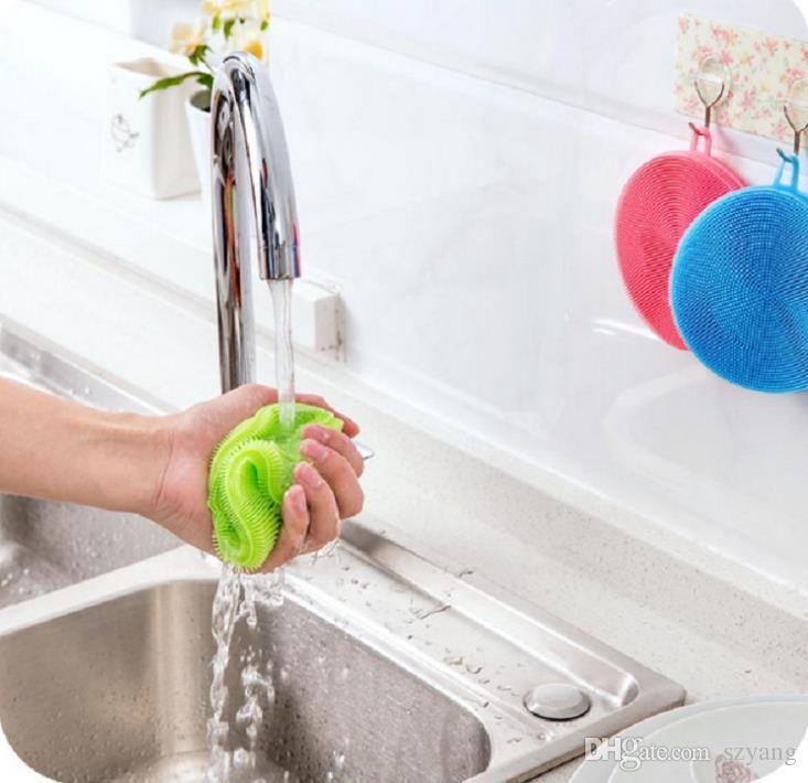 Magiczny silikonowy danie pucharowe szczotki do czyszczenia szorowania podkładka garnek do mycia szczotki do czyszczenia kuchni