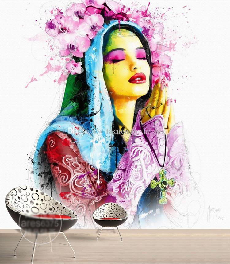 Compre Pintado A Mano Fotomural European Beauty Wallpaper Custom 3d Wallpaper For Wall Dormitorio Livingroom Hotel Beauty Salon Arte Pintura