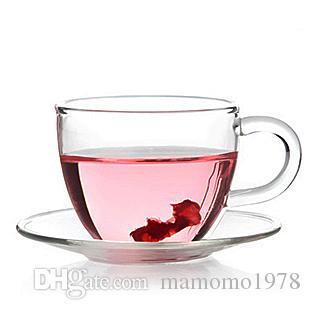 5SET / LOT 80ML 내열 유리 찻잔과 접시 커피 우유 유리 컵 머그잔 특별 판매 G0137
