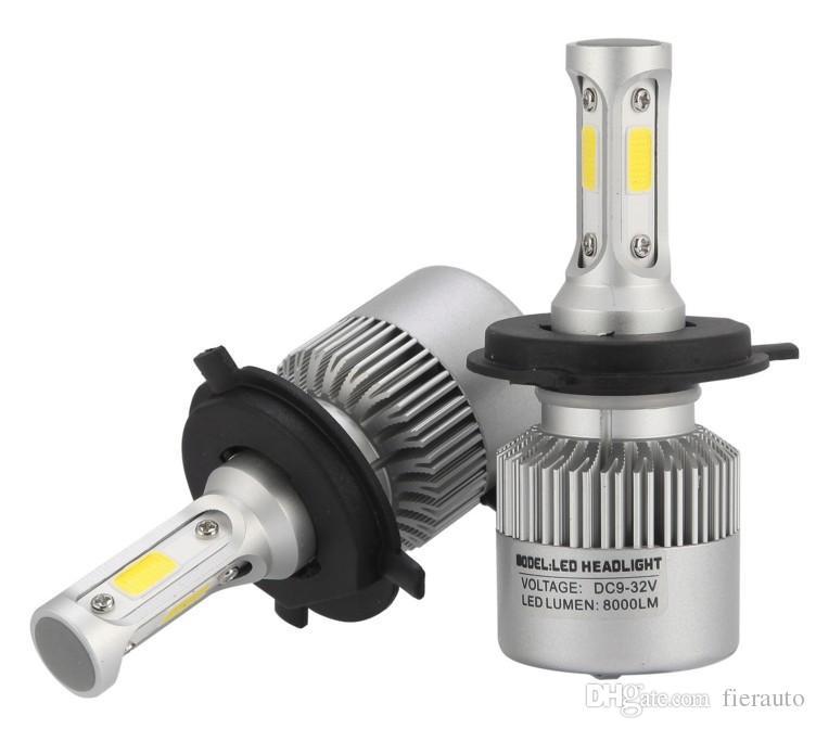 50 pairs H4 bi xenon H13 9004 9007 H7 H11 9005 9006 H1 H3 car led headlight COB LED 72W Fog Light 6500K