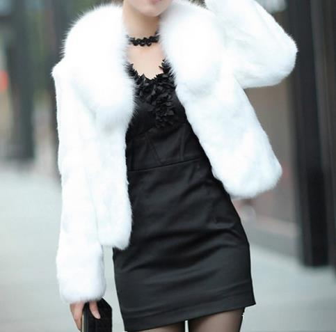 Compre Las Mujeres De La Vendimia Falsa Chaqueta De Piel Blanca Abrigo De Piel De Invierno Señoras Abrigos Gruesas Elegantes Abrigo De Mujer Abrigo A