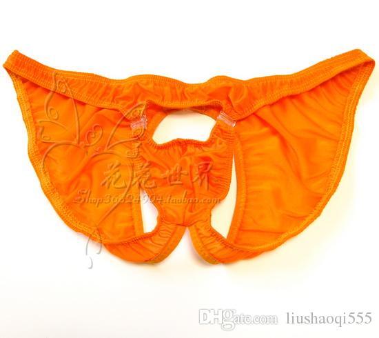 Erkek ultra-seksi thongs şeffaf T-pantolon maruz JJ baştan çıkarıcı mağara külot elastik streç sıkı