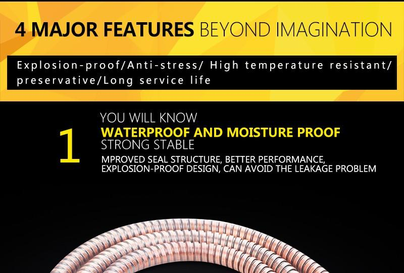 hm Antique Shower Hose 1.5m Stainless Steel ORB Brown Shower Hoses Flexible Bathroom Bidet Shower Hand Anti-Twist Faucet Hose (4)