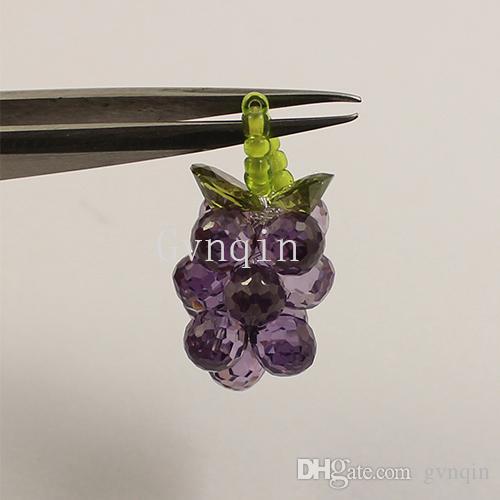 10pcs / lot violet zircone cubique grappe de raisin pour pendentif diy jewelly