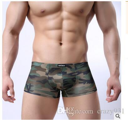 New Underwear Men Boxers Cueca Shorts Sexy Mens Underpants Male Boxer Military Camouflage Army Underwear Boxer