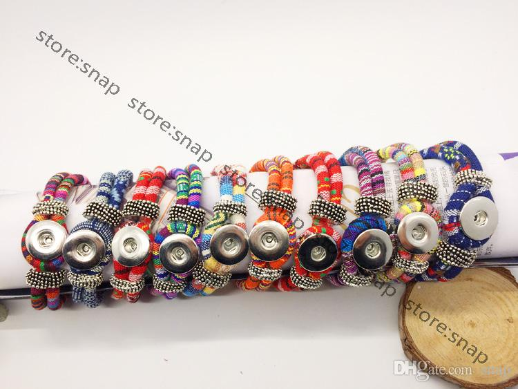 Vente en gros mélange bouton pression bouton snap bouton bijoux bracelet interchangeable (fit bouton 18mm)
