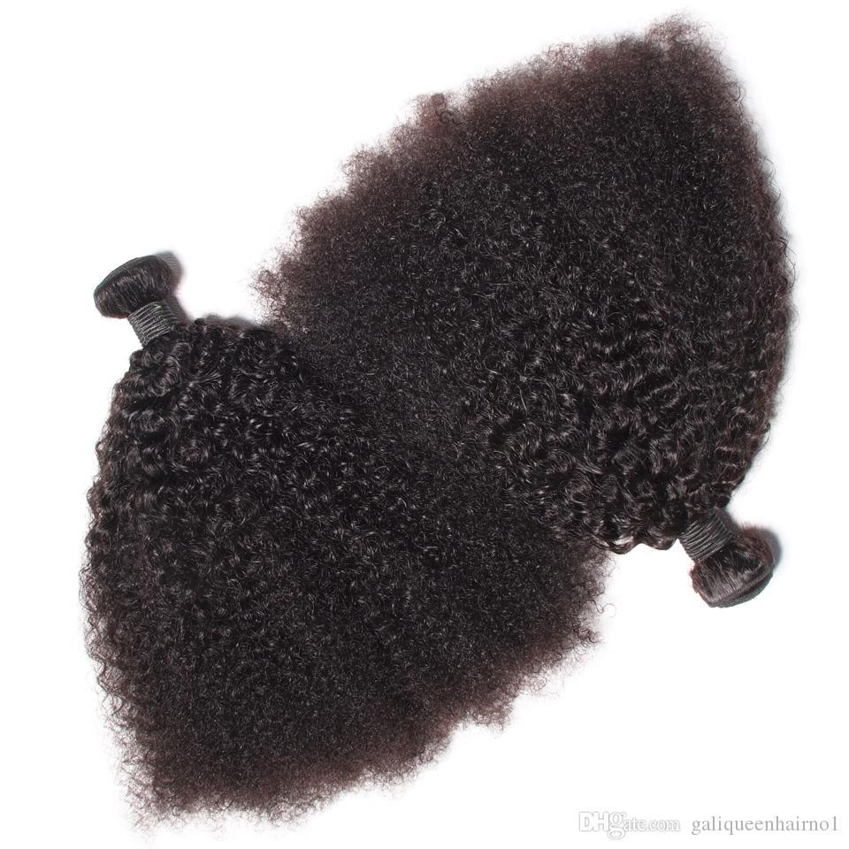 البرازيلي العذراء الشعر البشري الأفرو غريب مجعد موجة غير المجهزة ريمي الشعر ينسج مزدوج لحمة 100 جرام / حزمة 2Bundle / الكثير يمكن مصبوغ