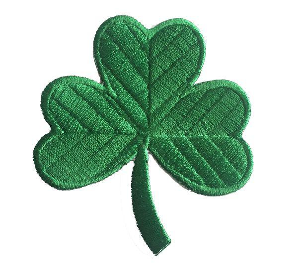 "Classic Irish Clover Verde Scuro Ricamato Patch 3 ""Applicazione Lucky Shamrock Iron-On Irlanda Emblema G0161 100% Ricamo Spedizione Gratuita"