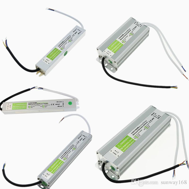 Alimentazione LED 12V di alta qualità Alimentazione 10-200W Adattatore del driver LED del trasformatore AC 90V-250V Trasformatore a LED impermeabile per luce subacquea