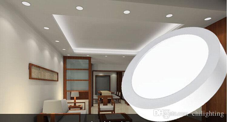 Großhandel Sainavi Runde LED Panel Licht Downlight 6 24W Super Dünne Flache  Lampe Wohnzimmer Lampe Oberflächenmontage Licht AC110 260V Von ...