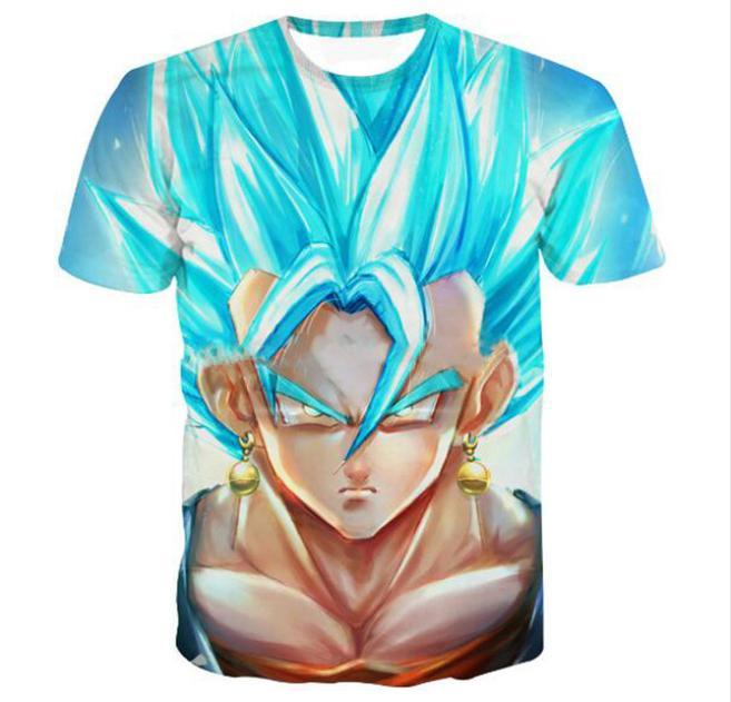 Estilo de verão Mais Recente Moda Mens / Womens Dragon Ball Z Goku Engraçado 3D Impressão Casual T-Shirt ABCQ00148