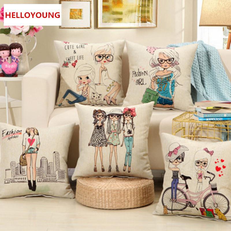 베개 핫 SalesBZ089 럭셔리 쿠션 커버 베개 케이스 홈 섬유는 허리 베개 패션 소녀 장식 던져 베개 의자 공급