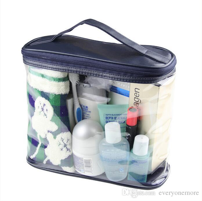 Transparent Toiletry Cosmetic Bag Organizer Beauty Products Brushes Lipstick Bags Travel Special Purpose Makeup Cases Accessories DHL